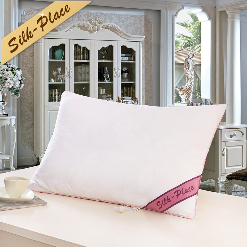 SOIE PLACEZ Literie Soie Oreiller Top Qualité Marque Conception Blanc Soins de Santé de cou Oreiller 100% Coton Laisser Respirer Voyage oreiller