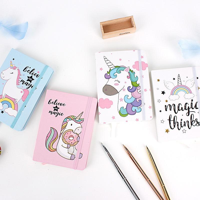 Cute Fashion Unicorn Notebook Notepad Kawaii Journal Daily Planner