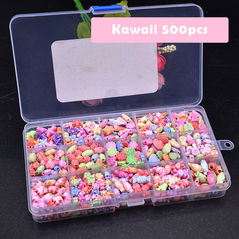 Educational Beads Lacing Toys For Children DIY Necklace Toys For Girls 7 Years Jewelry Making Handmade Toys For Girls MK2764H