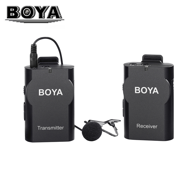 BOYA BY-WM4 Wireless Lavalier Microphone For Mobile Phones Microfone Lapel Mic Condenser Microphone for DSLR Cameras PC Tablets  k068 wireless microphone microfone with mic speaker condenser mini karaoke player ktv singing record for smart phones computer