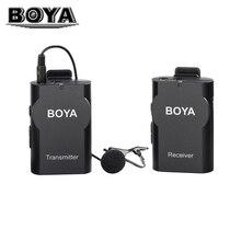 BOYA BY-WM4 Wireless Lavalier-mikrofon Für Handys Microfone Revers Mikrofon Kondensatormikrofon für DSLR Kameras PC Tabletten