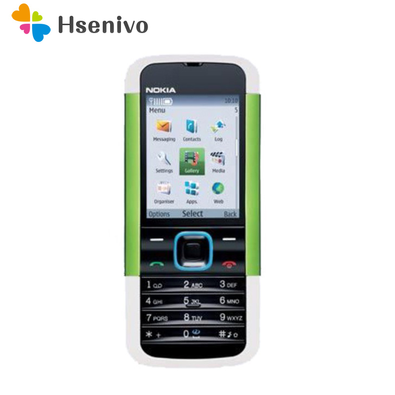 5000 100% original unlocked Nokia 5000 Mobile phone FM Radio Bluetooth one year warranty phone refurbished