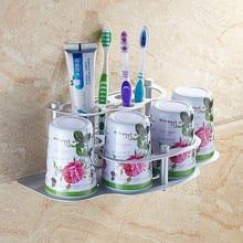 Ванная комната зубная щетка чашка полка ванная комната обладатель кубка зубная щетка 3 шт. набор аксессуары для ванной комнаты