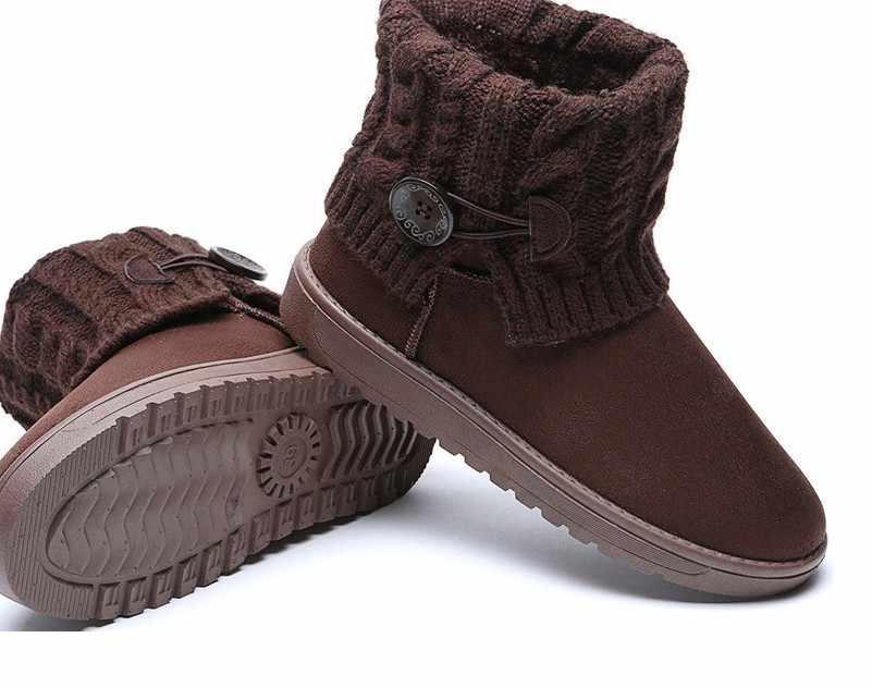 HUANQIU kadın Botları Kış sıcak Kar Botları Orta Buzağı Çizmeler Kadınlar Bayanlar Kızlar Kalın Peluş Akın Çizmeler Yün Kadın ayakkabı 41 JH277