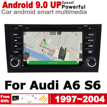HD IPS DSP Stereo Android 9.0 up Car DVD GPS Navi Map For Audi A6 S6 4B 1997~2004 MMI 2 DIN multimedia player radio WiFi System недорого