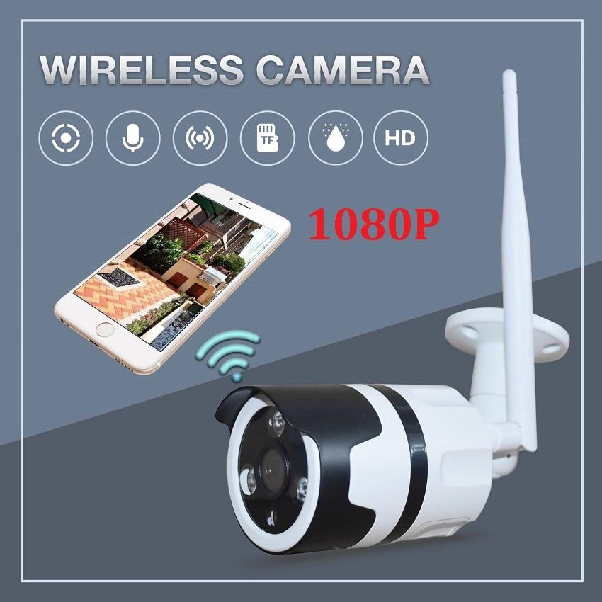 Zjuxin 1080 p uso da câmera wifi ao ar livre hd 3mp 3.6mm lente 2mp 360 graus de metal suporte da câmera à prova dwaterproof água max 128 gb cartão tf