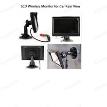 2CH Video Input Built in Transmitter 12 24V Car Truck 5 inch TFT LCD Wireless Monitor for Car Rear View Camera Parking KIT