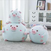 New Đến Lợn Đồ Chơi Sang Trọng Ngủ Gối Kích Thước Lớn Chất Béo Lợn Con Búp Bê Nhồi Bông Quà Tặng Christmas Quà Tặng
