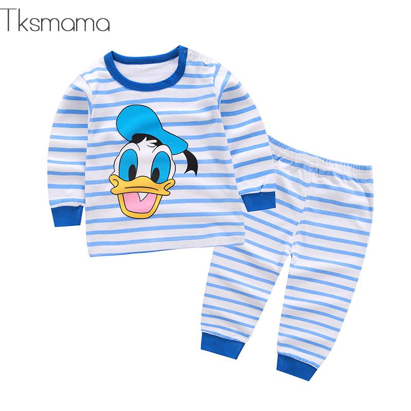 2019 Baby Boy Clothing Set Duck Striped Bebes Sport Newborn Clothes For Boy Products ZJS00012