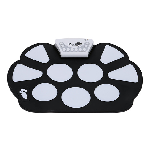 HOT SALE Portable Electronic Roll up Drum Pad Kit Silicon Foldable with Stick Music Instruments Karachi