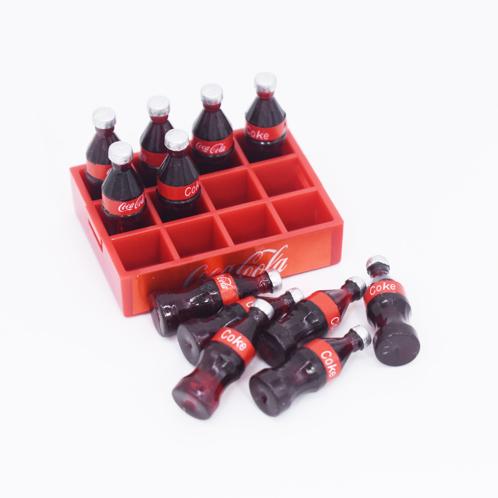 Mini Coke Bottle & Tray Decoration Accessory Tools For 1/10 RC Crawler Car Axial SCX10 RC4WD D90 TF2 TRAXXAS TRX4 TRX-4