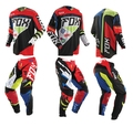 Free Shipping Cross country rally suit set Motocross racing venue Suit pants off-road downhill jersey T-shirt and pants protect