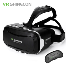 VR Shinecon Virtual Reality 3D Glasses Google Cardboard Headset VR Box 2.0 For 4.7-6.2 Inch Smartphone + Bluetooth Controller