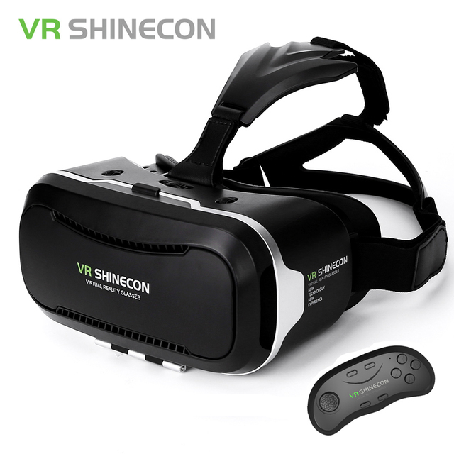 50672e7b8764 VR Shinecon Virtual Reality 3D Glasses Google Cardboard Headset VR Box 2.0  For 4.7-6.2