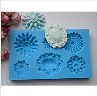 Fondant cake decorating mold forma de diamante broche de silicona del molde de chocolate fondant molde molde del caramelo