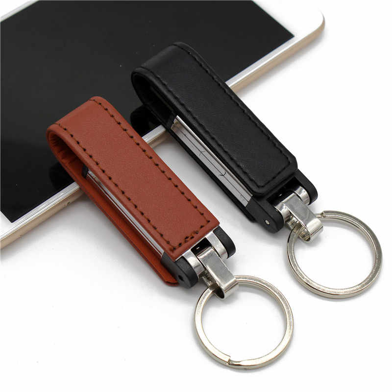 Binful usb2.0 couro criativo usb flash drive 4 gb 8 gb 16g 32 gb pen drive presente especial 64 gb