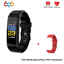115 plus inteligentne centrum tętno ciśnienie krwi inteligentny zespół Fitness Tracker zegarki sportowe smartband do iOS z systemem android dla Huawei cheap Passometer Uśpienia tracker Kalendarz Naciśnij wiadomość Tętna Tracker Tlenu we krwi Budzik Pilot zdalnego sterowania