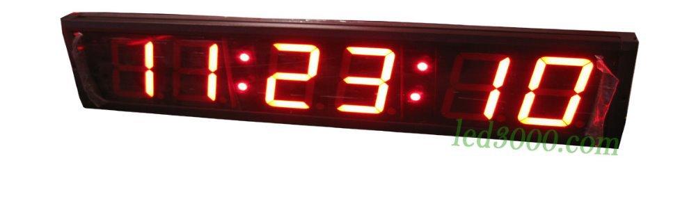 velká velikost 4 palce výška znak sedm segment vedl hodiny 6digits hodiny, minuty a sekundy červená barva doprava zdarma (HIT6-4R)