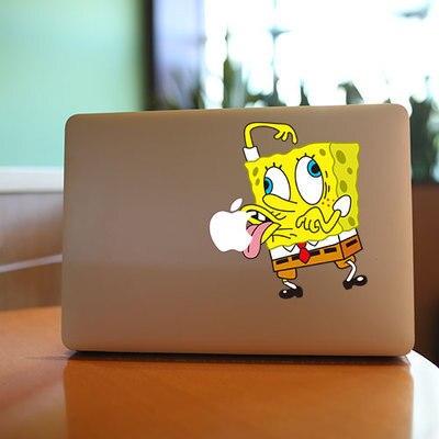 CJ Cartoon The Folder To The Tongue SpongeBob Decal Laptop - Spongebob macbook decal