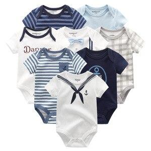 Image 4 - 8 шт./лот унисекс Одежда для маленьких мальчиков, платье для девочек, боди, одежда для девочек, одежда для малышей с единорогом, хлопковая одежда для маленьких девочек, детская одежда