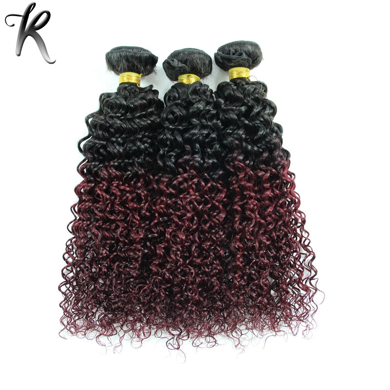 Miraculous Peruvian Ombre Kinky Curly Virgin Hair Rosa Hair Product 3Pcs Dark Hairstyle Inspiration Daily Dogsangcom