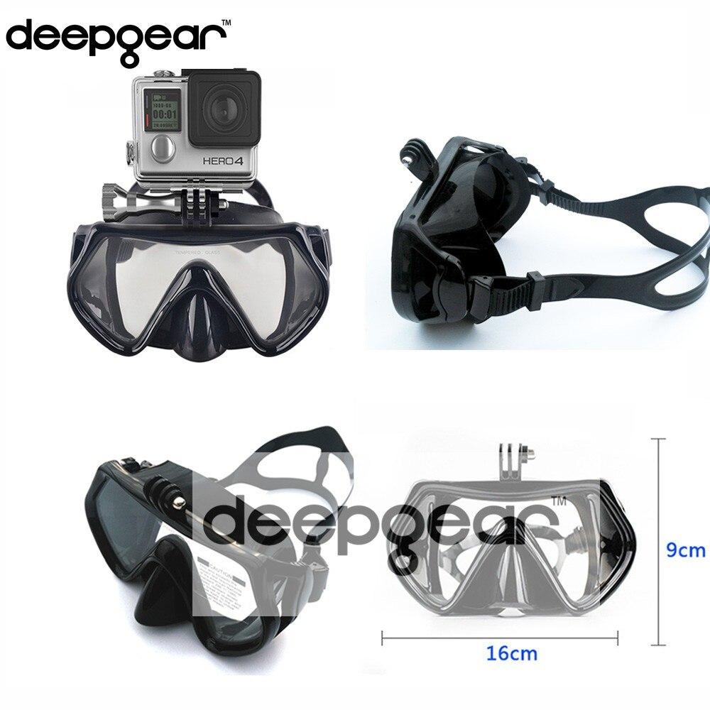 mergulho de vidro temperado máscara de snorkel