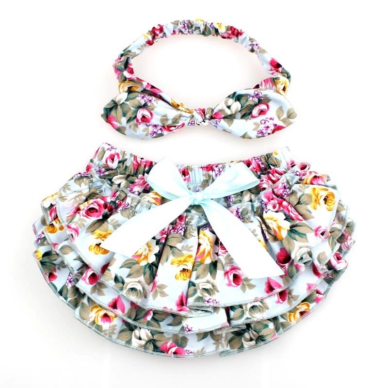 Floral algodón bebé Bloomers recién nacido cubierta del pañal - Ropa de bebé - foto 3
