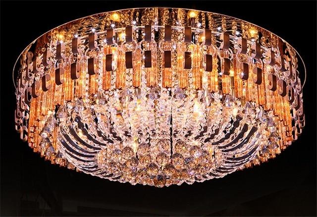 Moderne Lampen 18 : Moderne deckenleuchte luxus kristall aluminium decke licht