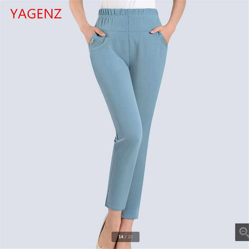 Fashion Cargo pants women Tall waist Stretch pencil pants Women s apparel Stretch  Summer trousers women 5xl 10c5fd0e5368