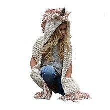 Милые теплые спортивные костюмы для детей с капюшоном; Лидер продаж; вязаная шапка вязаная крючком для девочек, для мальчиков Шапки шапки-маски с изображением животных шарф
