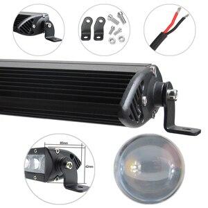 "Image 3 - 4D Lens Single Row 21"" 31"" 41"" 51 Inch Led 4x4 Offroad Light Bar For 12V 24V UAZ Off road SUV Truck 4WD Work Lights Driving Lamp"
