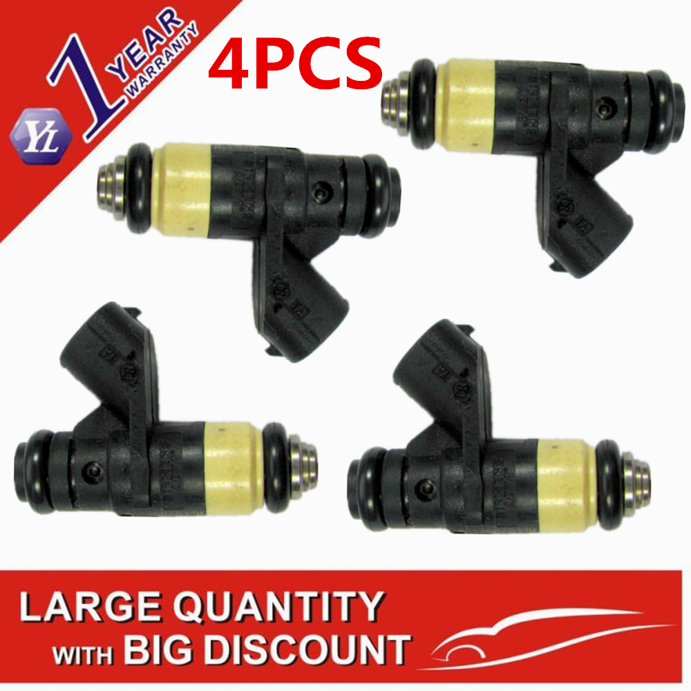 4pcs Genuine fuel injector nozzle 036906031M 036 906 031 M for V W Polo 9N Seat