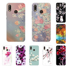 huawei p20 lite Case,Silicon Full flower Painting Soft TPU Back Cover for huawei p20 lite protect Phone bags