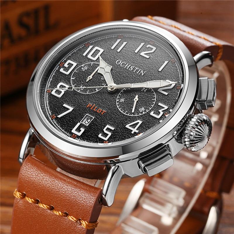 2017 OCHSTIN Horas de Marca dos homens Relógio de Luxo Militar - Relógios masculinos