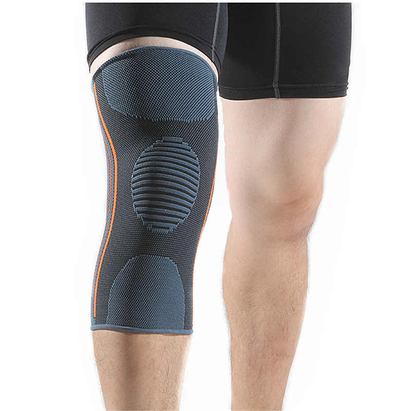 2 Pieces Knee Brace Support Compression Sleeves Basketball Volleyball Knee Pads for Running Jogging Sports Joint Pain Relief