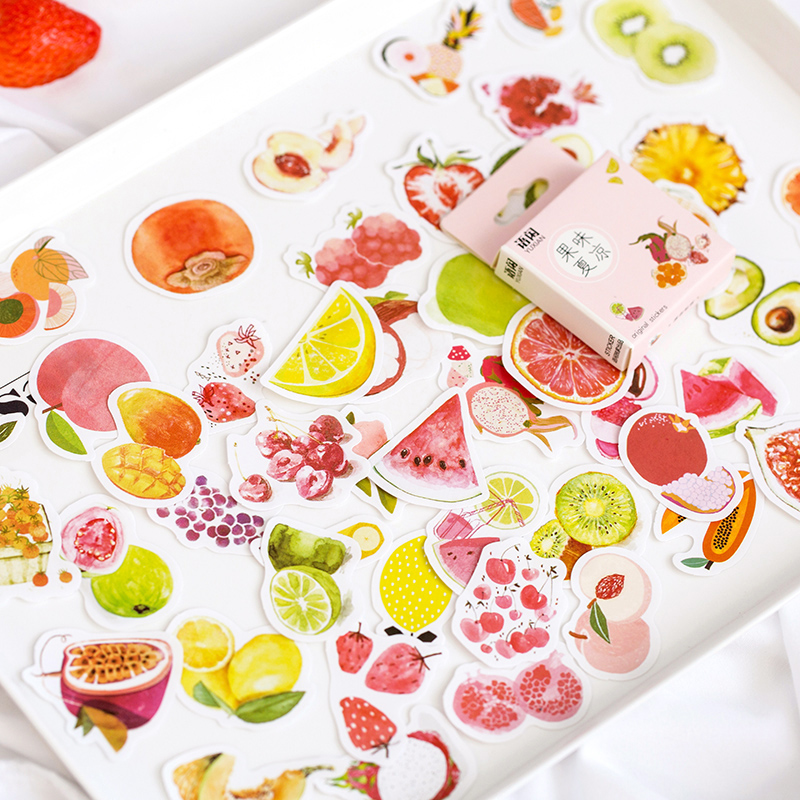 50 Pcs/lot Yuxian Fruit Ice Cream Bottle Paper Sticker Package DIY Diary Decoration Sticker Album Scrapbooking