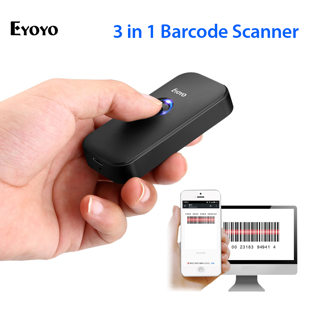 Eyoyo Barcode Scanner Decoding Stronger Android CCD 1D for IOS Bt-2.4g Connection Wired