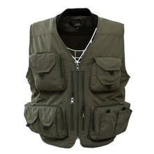 Mounchain Outdoor Sports Fishing Vest Multi Pocket Cotton Fishing Clothing Vests Jackets Colete Pesca Fishing Jacket