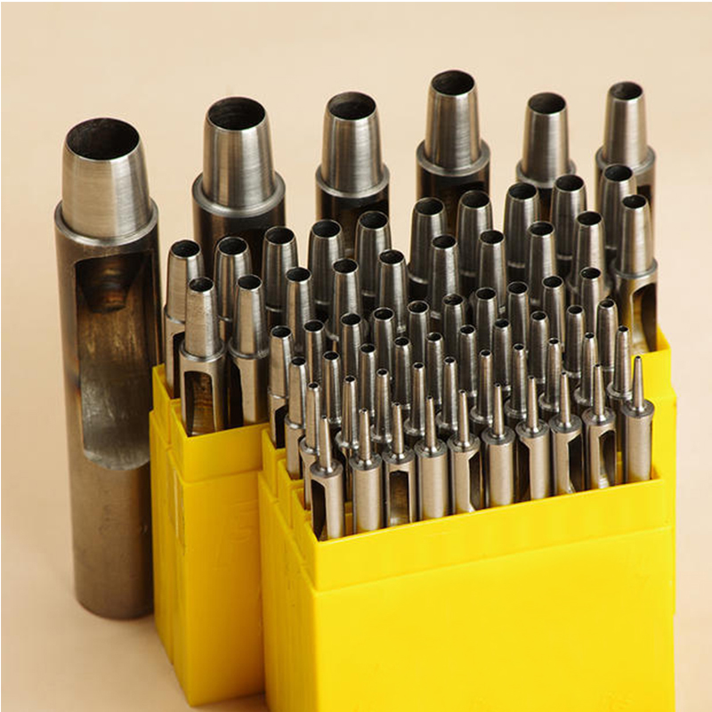 SPC Hole Punch Set 10 Size/set 1mm-10mm Round Punch Hand Made Leather Tools Supplies