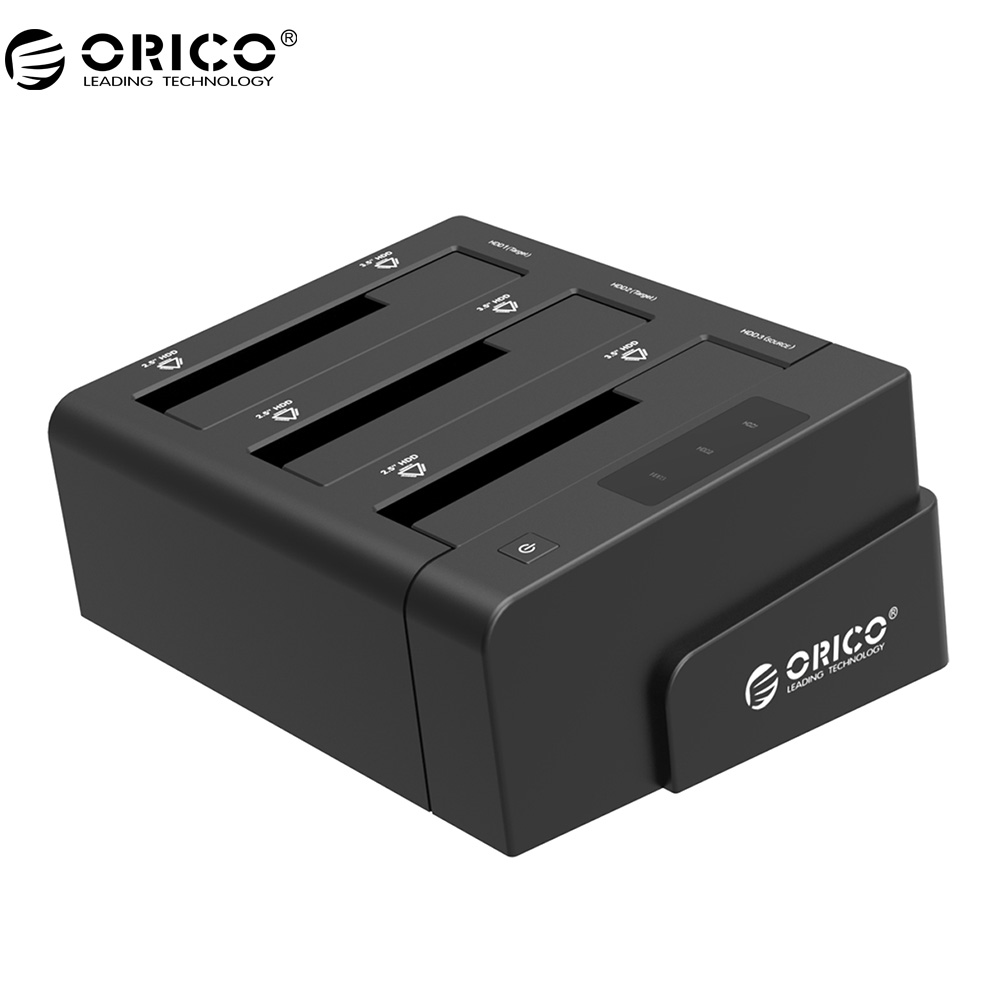 ORICO 6638US3-C USB 3.0 SATA Tool Free 2.5''/3.5'' Off-line Clone Hdd Docking Station - Black корпус для hdd orico 9528u3 2 3 5 ii iii hdd hd 20 usb3 0 5