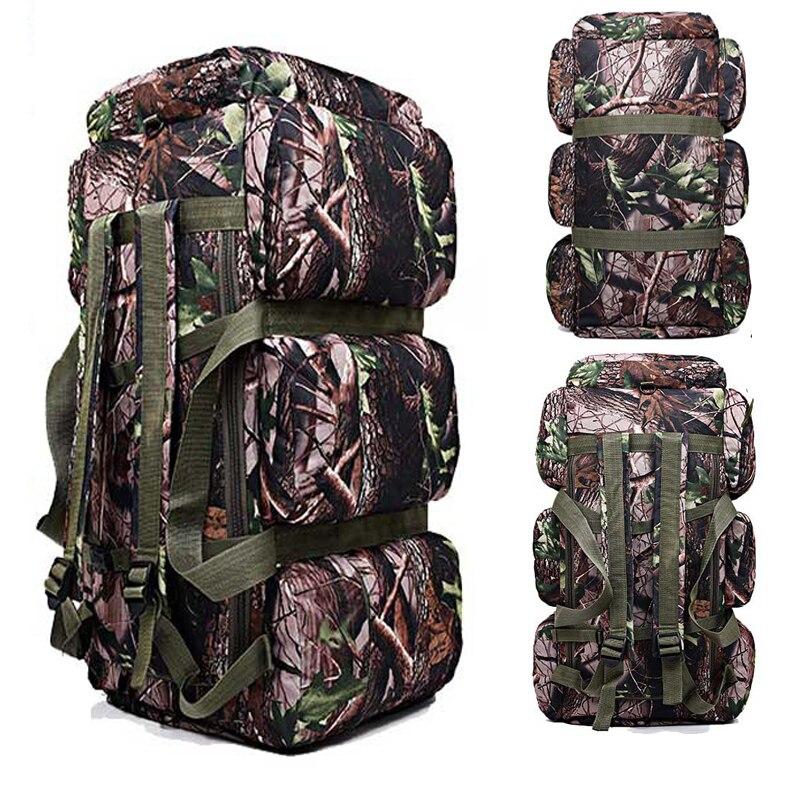 Prix pour 2017 Nouveau Haute Qualité 90L grande capacité militaire voyage sacs oxford/toile sac à dos camouflage sac polochon sac à dos étanche