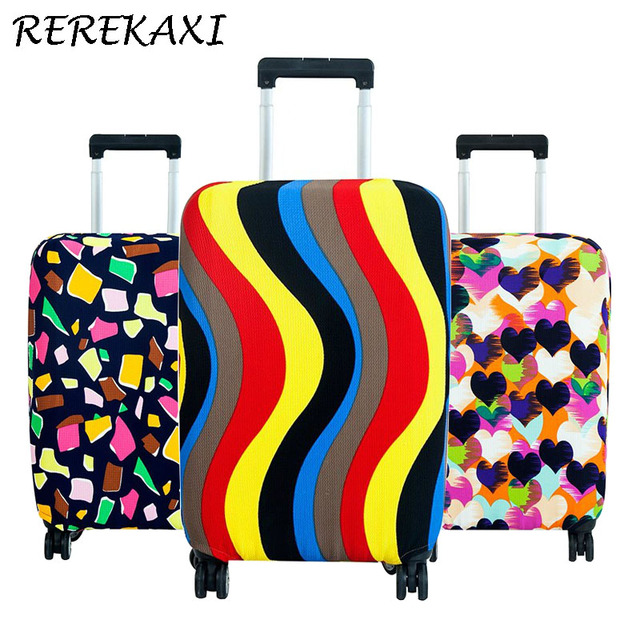 REREKAXI Fashion Elastic Travel Luggage Cover Protective Suitcase Cover Trolley case Travel Luggage Dust cover for 18 to 30inch