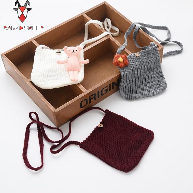 Raged Sheep Girls Small Coin Purse Change Wallet Kids Bag Coin Pouch Children's Wallet Money Holder Kids Lovely knittin Bag Gift