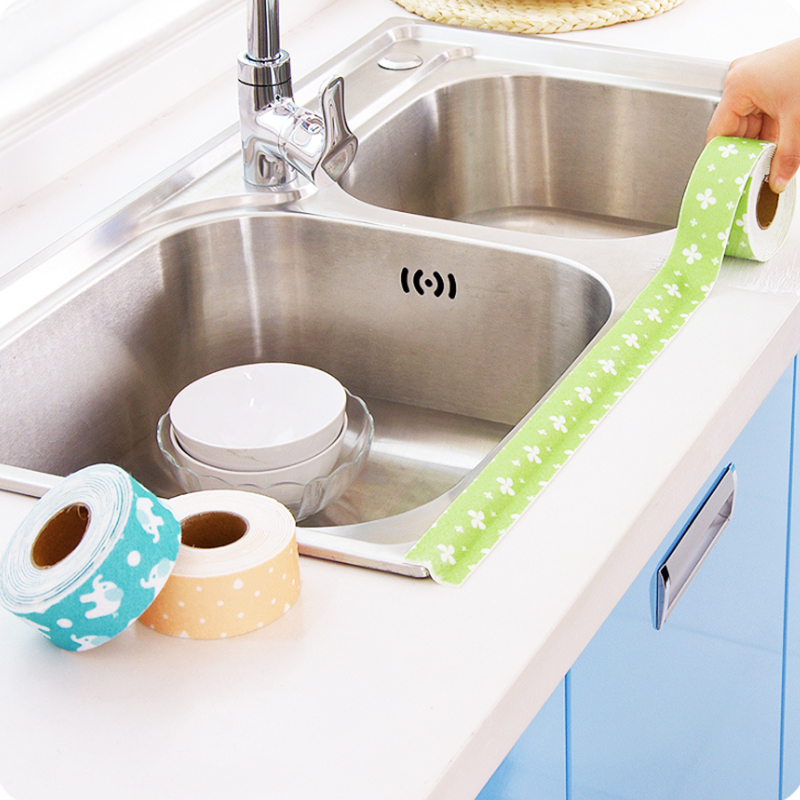 Vegetable basin waterproof paste Kitchen and toilet self-adhesive sink moisture stickers Toilet seat decoration Corner baseboard