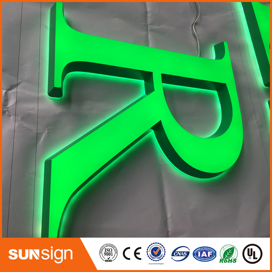 Hot selling custom Lighted alphabet metal led store signs