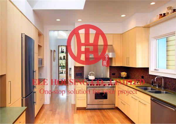 US $1450.0 |Colore venature del legno laminato armadio da cucina moderna  personalizzato con eccellente design e qualità MOQ è 1 set & sorseggiando  ...