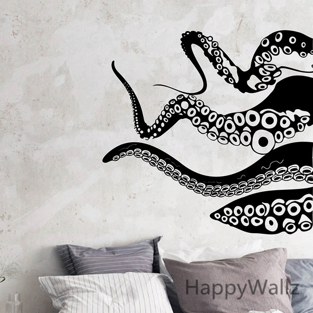 Lovely Octopus Wall Sticker Octopus Wall Decals Decorative Modern Vinyl Wall Art  DIY Vinyl Baby Nursery Removable Wall Stickers M30