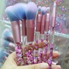 Professional 7pcs liquid makeup brushes face Foundation pincel maquiagem fashion eye beauty pinceis de maquiagem with makeup bag кисти для макияжа new 9 pincel maquiagem 9pcscandybrush