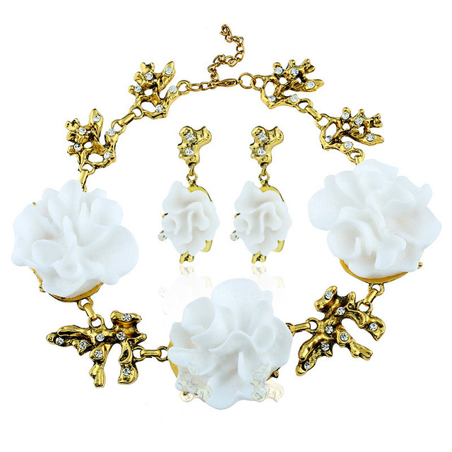 Ожерелье lzhlq в барочном стиле женское массивное ожерелье из