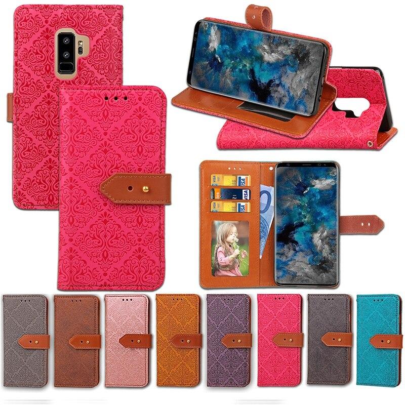 Galleria fotografica Luxury Wallet Case For Fundas Samsung Galaxy S9 Case Flip PU Leather Phone Cases For Coque Samsung Galaxy S9 S 9 Plus Cover Etui